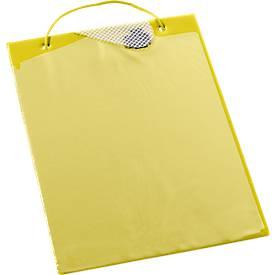 Image of Auftragstaschen, Klettverschluss und Aufbewahrungsfach, DIN A4, gelb