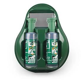 Augenspülstation, Komplettset, mit 2 Spülflasche und Spiegel, Wandmontage