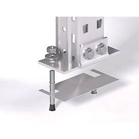 Ausgleichsplatte für alle Stützenprofile des Palettenregals PR 600 - Stärke 1 mm