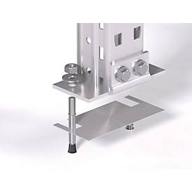 Ausgleichsplatte für alle Stützenprofile des Palettenregals PR600 - Stärke 1 mm