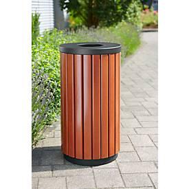 Außenabfallbehälter 40 L, rund mit Einwurf oben