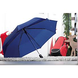 Automatik-Windproof-Taschenschirm Bora, farbl. abgestimmte Hülle, 3-tlg. Metallstock