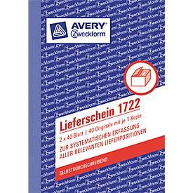 AVERY™ Zweckform Lieferschein Nr. 1722
