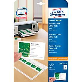 AVERY cartes de visite Quick&Clean 200 gr/m²