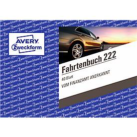 Avery Zweckform 222-5 Fahrtenbuch für PKW, A6 quer, 40 Blatt, 4er Pack + 1 gratis