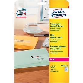 Avery Zweckform Adress-Etiketten, permanent haftend