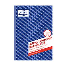 Avery Zweckform Auftrag Lieferschein Rechnung Nr. 1739