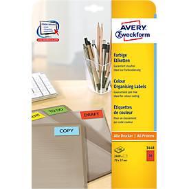 Avery Zweckform Etiketten, farbig, für alle A4-Drucker, 100 Bogen/ Paket