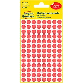 AVERY Zweckform Markierungspunkte 3010, rot
