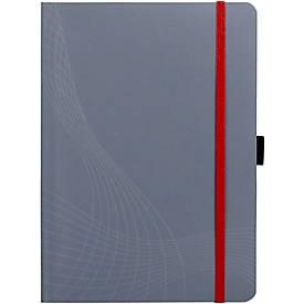 AVERY ZWECKFORM Notizbuch Notizio, Softcover, 80 Blatt, DIN A5, liniert, grau