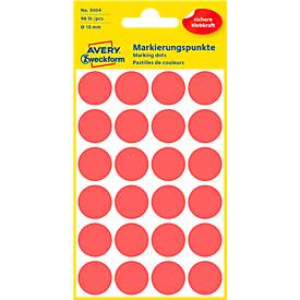Avery Zweckform Points de marquage, Ø 18 mm, 96 Points, collage permanent