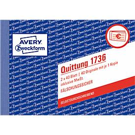 Avery Zweckform Quittungen Nr. 1736