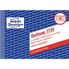 Avery Zweckform Quittungs-Block Nr. 1735