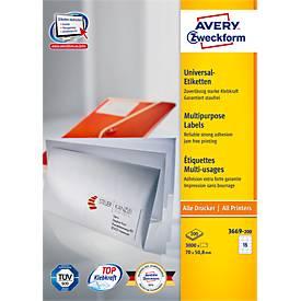 Avery Zweckform Universal-Etiketten 3669/3669-200
