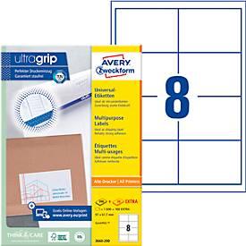 Avery Zweckform Universal-Etiketten, permanent haftend