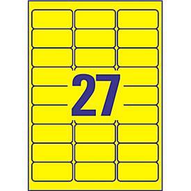 Avery Zweckform Wetterfeste Folien-Etiketten L6105-20, 63,5 x 29,6 mm, permanent, gelb