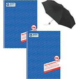 AVERY® Zweckform 2 x Bautagesberichte Nr. 1777 + Taschenregenschirm, GRATIS