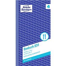 AVERY® Zweckform Bonbuch, blau, Nr. 834