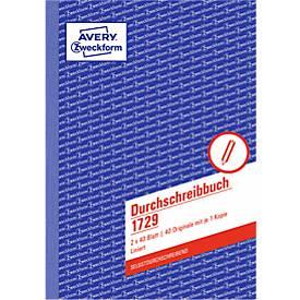 AVERY® Zweckform Durchschreibbuch 1. und 2. Blatt liniert, Nr. 1729