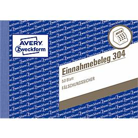 AVERY® Zweckform Einnahmebelege Nr. 304, grün, mikroperforiert