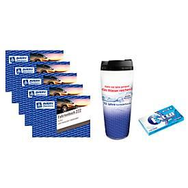 AVERY® Zweckform Fahrtenbuch für PKW NR. 222, 5 St. + Kaugummi und Kaffeebecher to go, GRATIS
