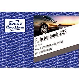 AVERY® Zweckform Fahrtenbuch Nr. 222