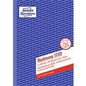 AVERY® Zweckform Kleinunternehmer, 1. und 2. Blatt bedruckt Nr. 1734