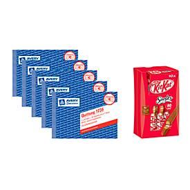 Avery® Zweckform Quittungs-Block Nr. 1735, 5 Stück + KitKat Singles 10er Multipack, GRATIS