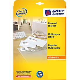 AVERY® Zweckform Universal-Etiketten 3490, 70 x 36 mm, 600 Stück