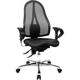 Bürostuhl Sitness 15, mit Armlehnen, Orthositz, Netz-Optik