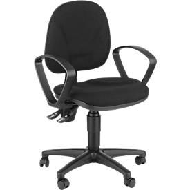 Bürostuhl Small-Office, ohne Armlehnen, integr. Lendenwirbelstütze, höhenverstellbar