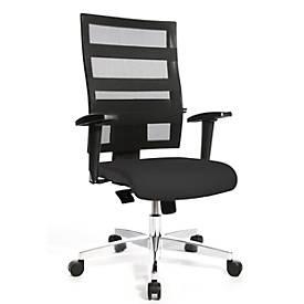 Bürostuhl X-Pander, mit Armlehnen, Lehne m. elastischen Gummibändern