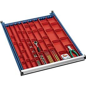 Bac à outils, l. 33, 45 et 70 mm, pour hauteur de tiroirs 50 mm