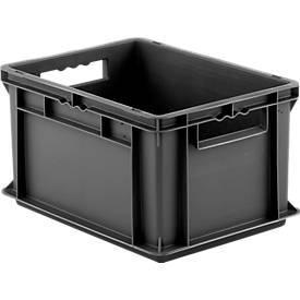 Bac gerbable aux dim. Euro EF 4220, en plastique recyclé, cloisons pleines, 20,4 litres