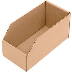 Bacs de rayonnage, en carton, robuste et pratique, 50 pièces, diverses tailles