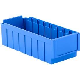 Bacs pour rayonnage RK 421, 8 cases, bleu