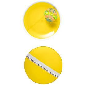 Ballspiel-Set Have Fun, 3-tlg, Fangscheiben mit Handschlaufe, gelb