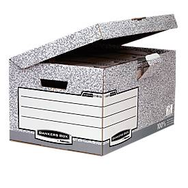 Bankers Box® archiefopbergdozen Maxi, met klapdeksel,collectie met grijze kleur, 10 stuks