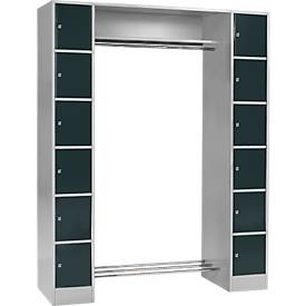 Basiselement, kast S 4/6, veiligheidscilinderslot, licht zilver/antraciet, licht zilver/antraciet
