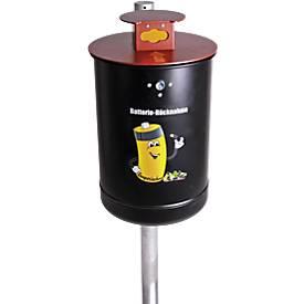 Batteriesammler Amperinchen, inkl. Pfosten, Inhalt 10 Liter
