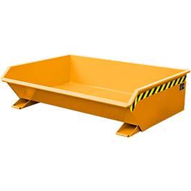 Bauer mini-kiepbak MGU 610, 350 mm gietrandhoogte, 610 liter, oranje