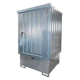 Bauer opslagruimte voor gevaarlijke stoffen, TYPE GD-E/IBC, afsluitbaar, opslagcapaciteit tot 1 x 1000 lliter IBC, verzinkt