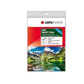 Bedruckbare Folie Agfaphoto OHP Inkjet Film, 10 Blatt, DIN A4, Folienstärke 100 µm