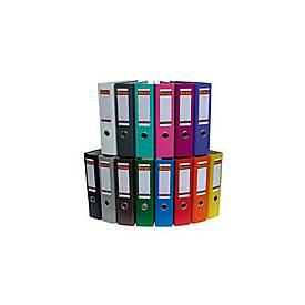 bene Kunststoff-Briefordner, weiß, 80 mm Rückenbr.