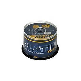 Image of BestMedia Platinum - 50 x CD-R - 700 MB (80 Min) 52x - Spindel