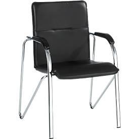 Bezoekersstoel Samba, zwart