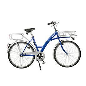 Bicyclette de transport, cadre en acier, avec porte-charge sur la roue avant, éclairage compris