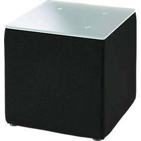 Bijzettafel, b 410 x h 450 mm, zwart