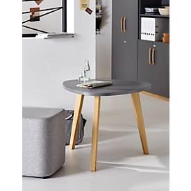Bijzettafel START UP hout, Ø 850 x H 630 mm, Hout, grafietgrijs