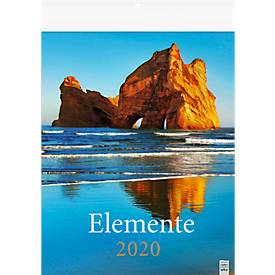 Bildkalender Elemente, mit Landschaftsmotiven aus aller Welt, 245 x 345 mm